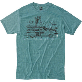 Hippy Tree Ansel T-Shirt Heren, heather teal
